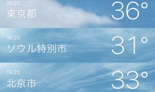 世界の天気で北朝鮮